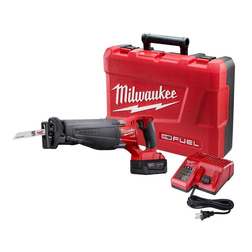 Milwaukee M18 FUEL 18-Volt Lithium-Ion Brushless Cordless Sawzall Reciprocating Saw Kit by Milwaukee