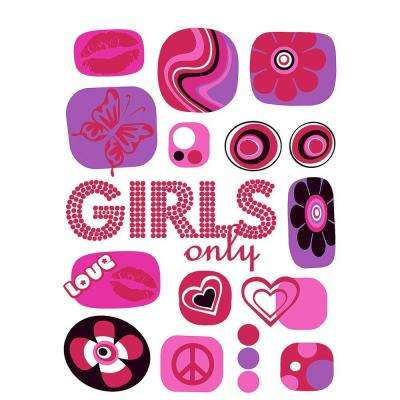 27 in. x 19 in. Girls Only Wall Decal