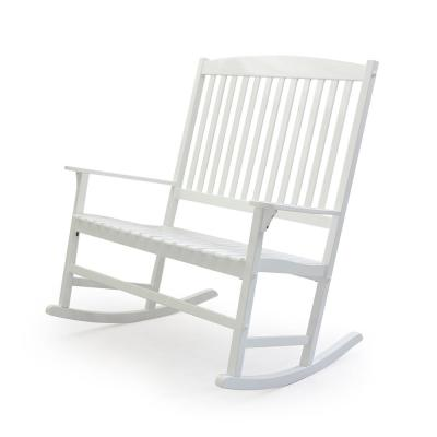 Thames White Wood Outdoor Rocking Chair
