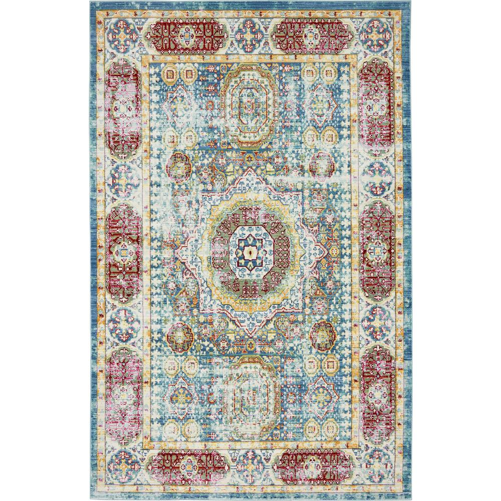 Aria Blue 5 ft. x 8 ft. Area Rug