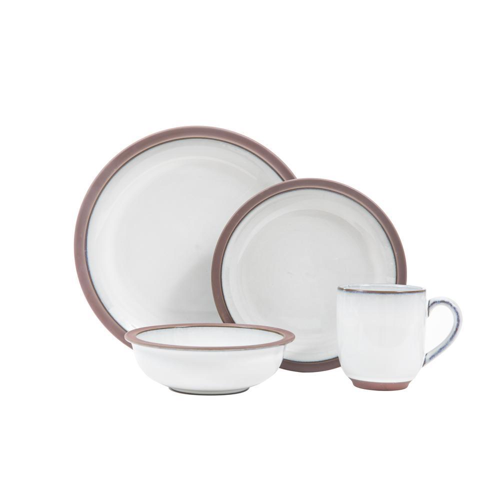Sango Eterra 16-Piece White Dinnerware Set 3649WH803ACN29