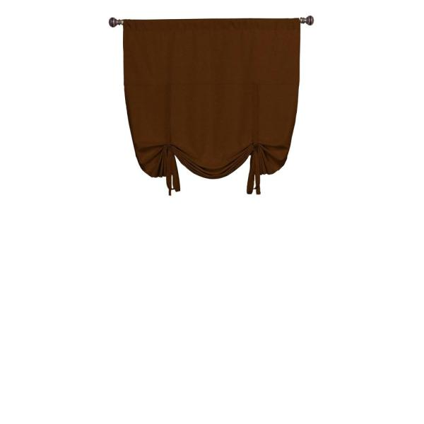 Kendall Blackout Window Curtain Panel in Chocolate - 42 in. W x 63 in. L