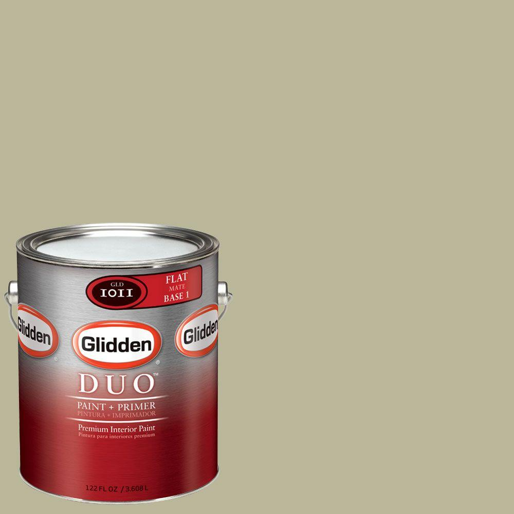 Glidden DUO Martha Stewart Living 1-gal. #MSL235-01F Spanish Moss Flat Interior Paint with Primer - DISCONTINUED