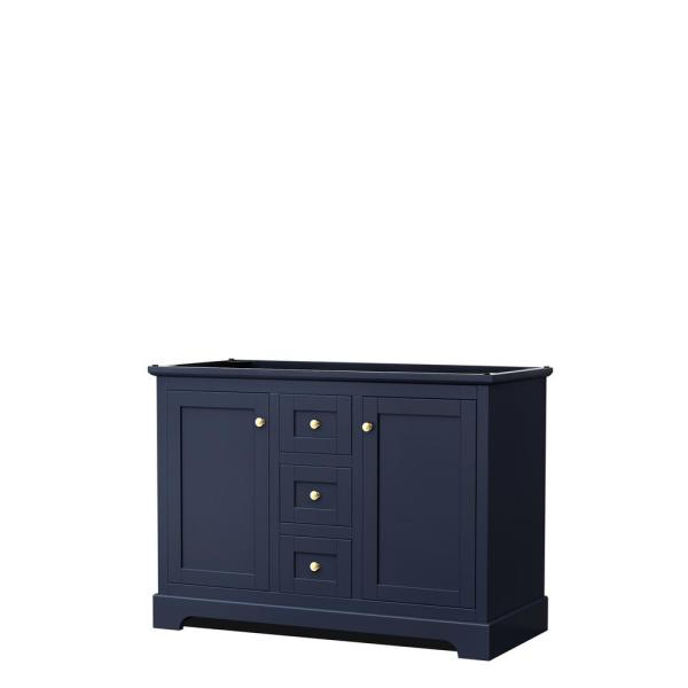 Avery 47.25 in. W x 21.75 in. D Vanity Cabinet Only in Dark Blue