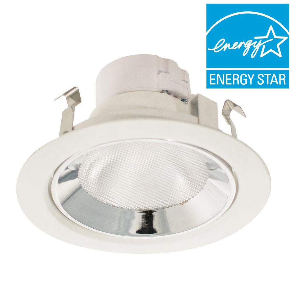 Whirlpool Gold Series 4 in. White and Chrome LED Recessed Light Kit 50-Watt Equivalent Dimmable Adjustable/Directional