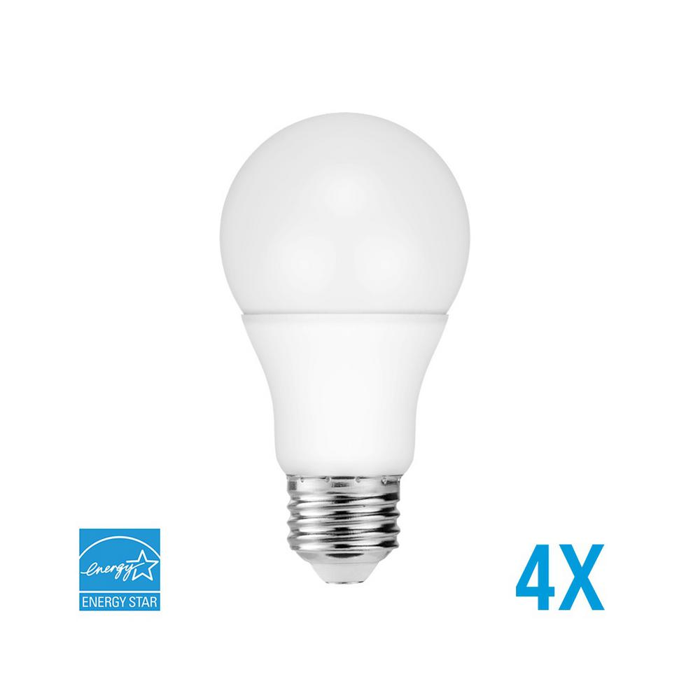 60-Watt Equivalent A19 Dimmable LED Light Bulb Bright White (4-Pack)
