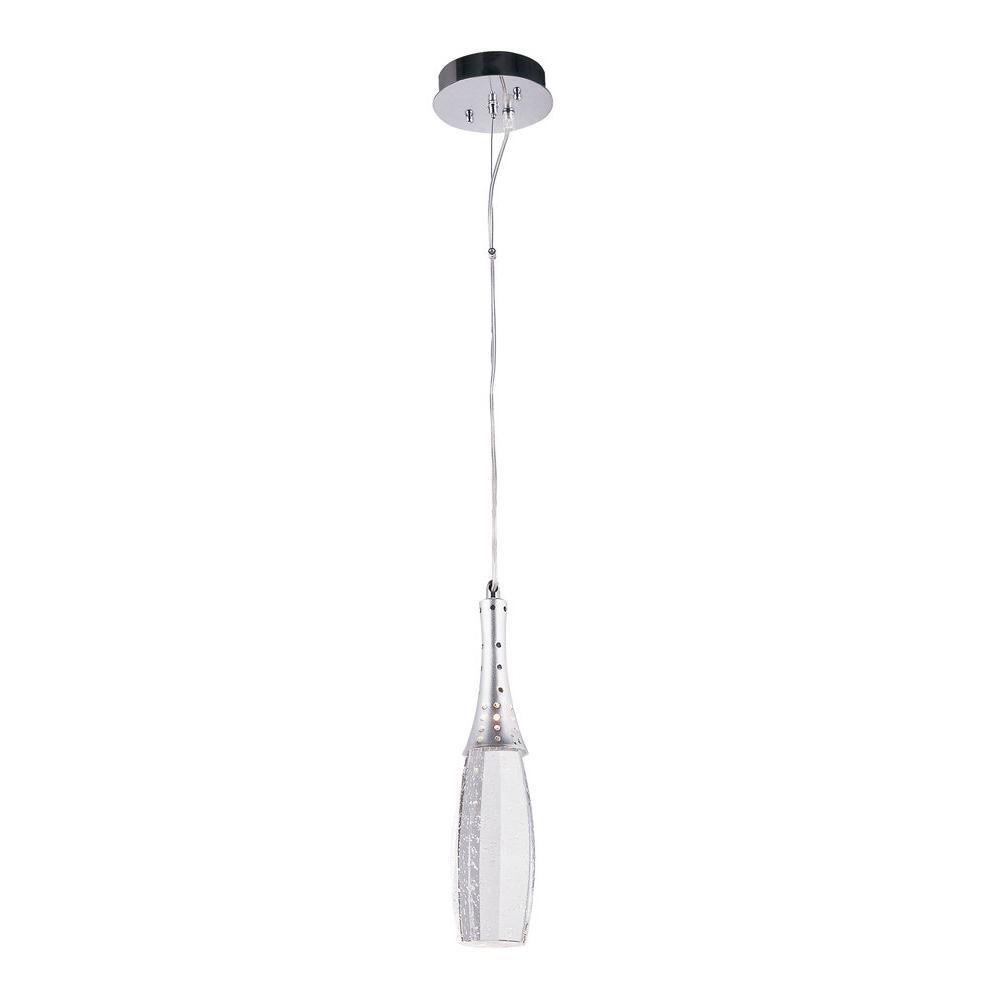 Bel Air Lighting Stewart 1-Light Polished Chrome Integrated LED Ceiling Pendant