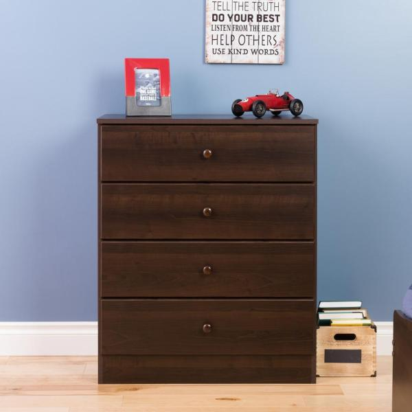 Astrid 4-Drawer Espresso Chest
