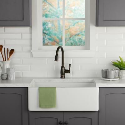 Restore Bright White 3 in. x 12 in. Ceramic Bevel Wall Tile (360 sq. ft. / pallet)