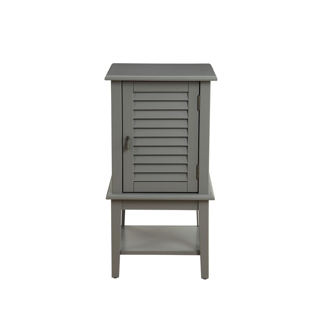 Hilda II Gray Floor Cabinet