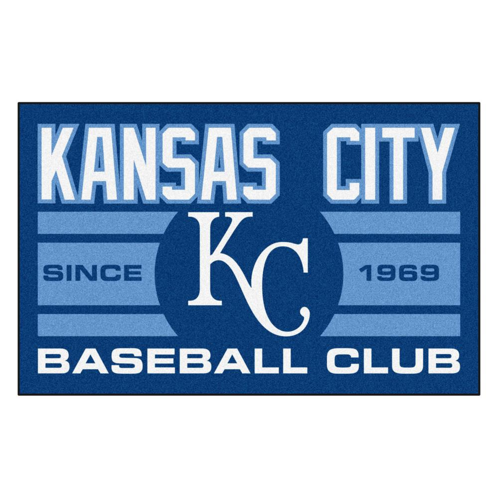 Fanmats Mlb Kansas City Royals Blue 2 Ft X 3 Area Rug