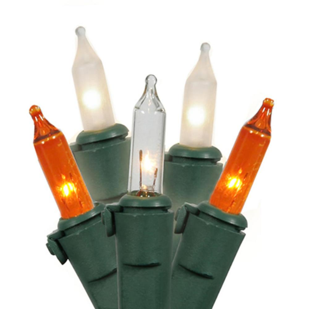 Gki Bethlehem Lighting Set Of 50 50orange Clear And Frost Commercial Mini Christmas Lights Green Wire