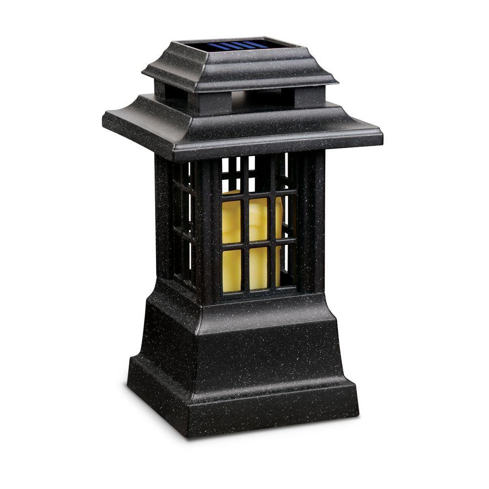 Sarah Peyton Solar Indoors/Outdoor Black Matte Zen LED Lantern-DISCONTINUED