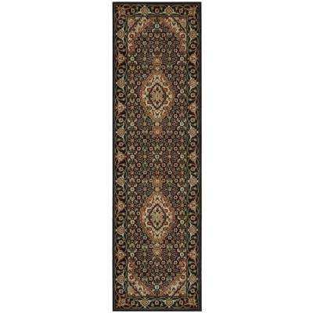 Persian Arts Parthian Black 2 ft. x 8 ft. Runner Rug