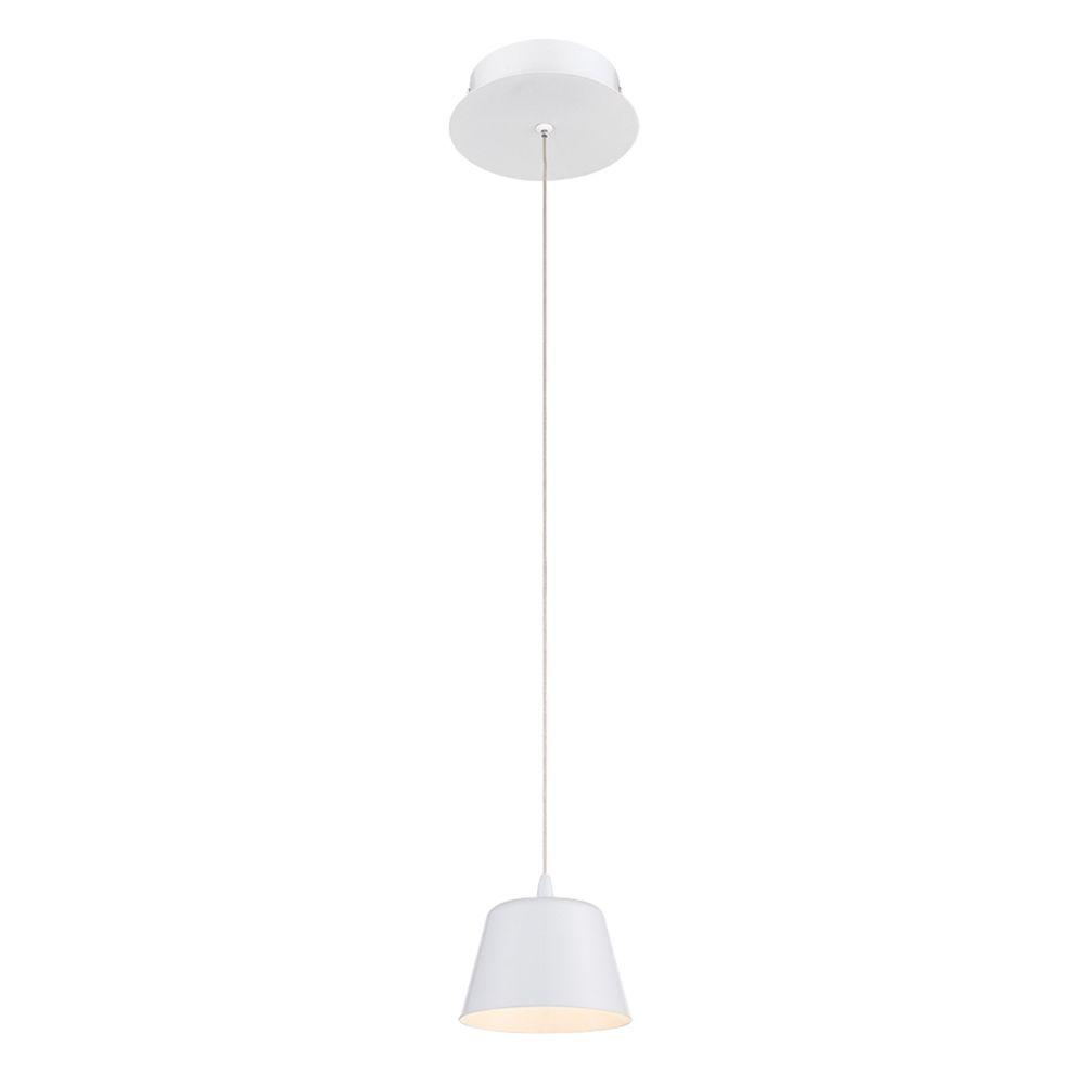 Eurofase Bowes Collection 1 Light White LED Pendant 28237