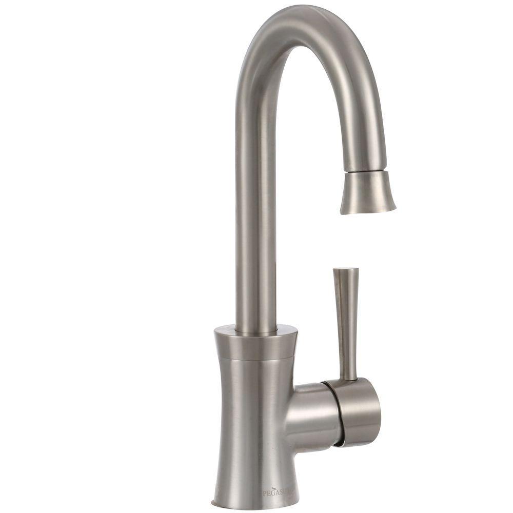 Pegasus Luca Single-Handle Bar Faucet in Brushed Nickel