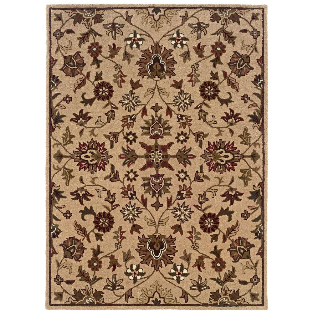 Linon Home Decor Trio Traditional Gold 1 ft. 10 in. x 2 ft. 10 in. Area Rug