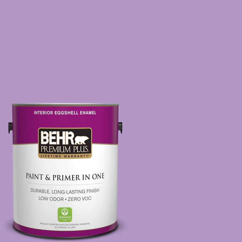 BEHR Premium Plus 1-gal. #660B-5 Atlantic Tulip Zero VOC Eggshell Enamel Interior Paint