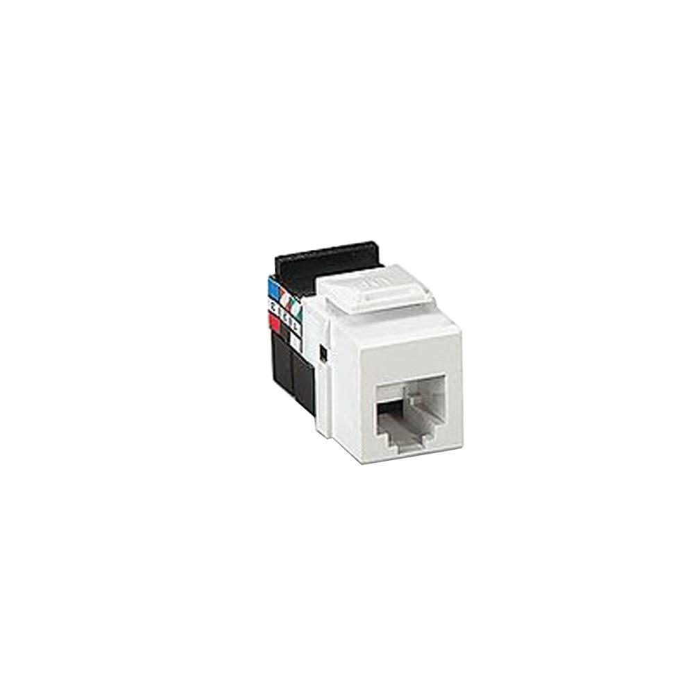 Leviton QuickPort Voice Grade 8P8C Connector, Brown