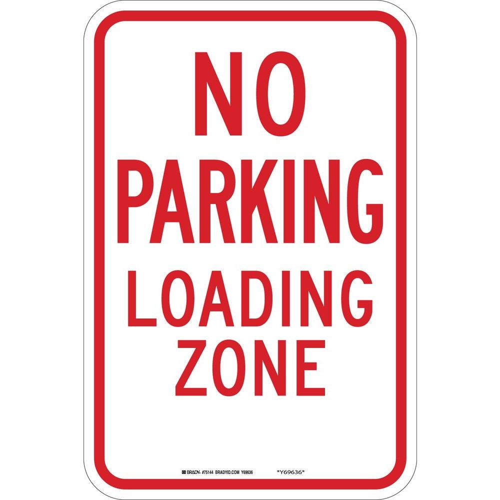 12 in. x 12 in. B-959 Reflective Aluminum No Parking Traffic