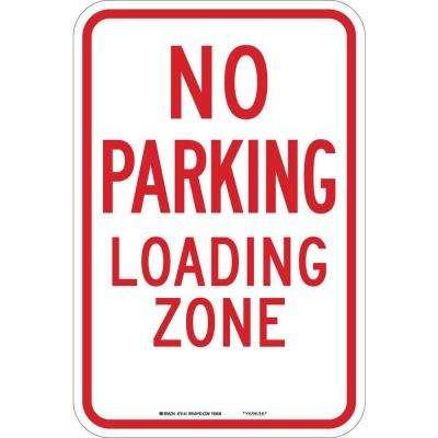 12 in. x 12 in. B-959 Reflective Aluminum No Parking Traffic Sign