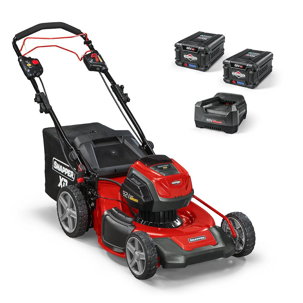 Snapper XD 21 in. 82-Volt Battery Power Self Propelled Walk Behind Lawn Mower - Two 2.0 Ah Batteries/Charger Included