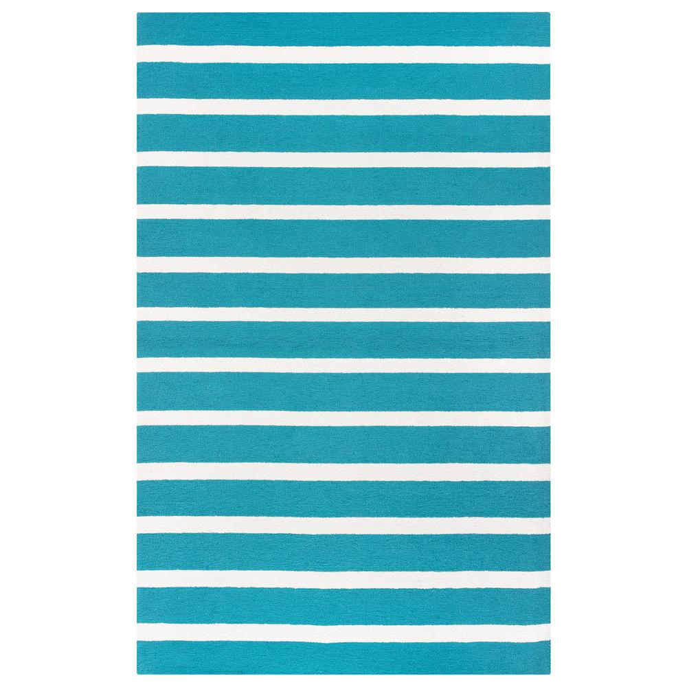 Rizzy Rugs Azzura Hill Teal (Blue) Striped 5 ft. x 8 ft. ...