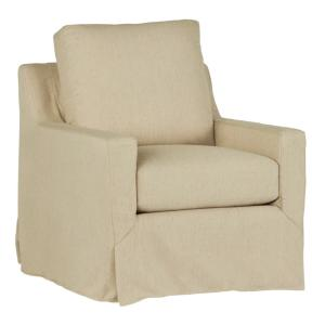 Sophie Wheat Upholstered-Slip Covered Chair