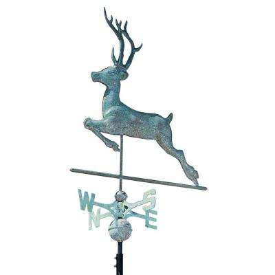 48 in. Verdigris Deer Copper Weathervane
