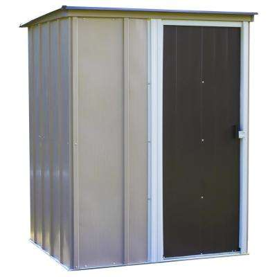 Brentwood 5 ft. W x 4 ft. D Brown Galvanized Metal Storage Shed