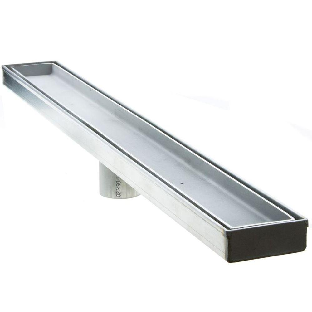 Luxe 48 in. Stainless Steel Linear Shower Drain - Tile Insert