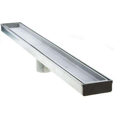 48 in. Stainless Steel Linear Shower Drain - Tile Insert