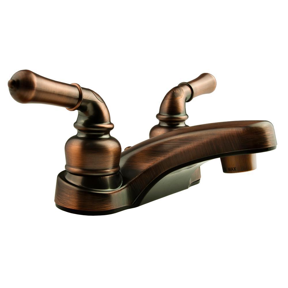 Dura Faucet 4 in. Centerset 2-Handle Classical RV Bathroom Faucet in ...