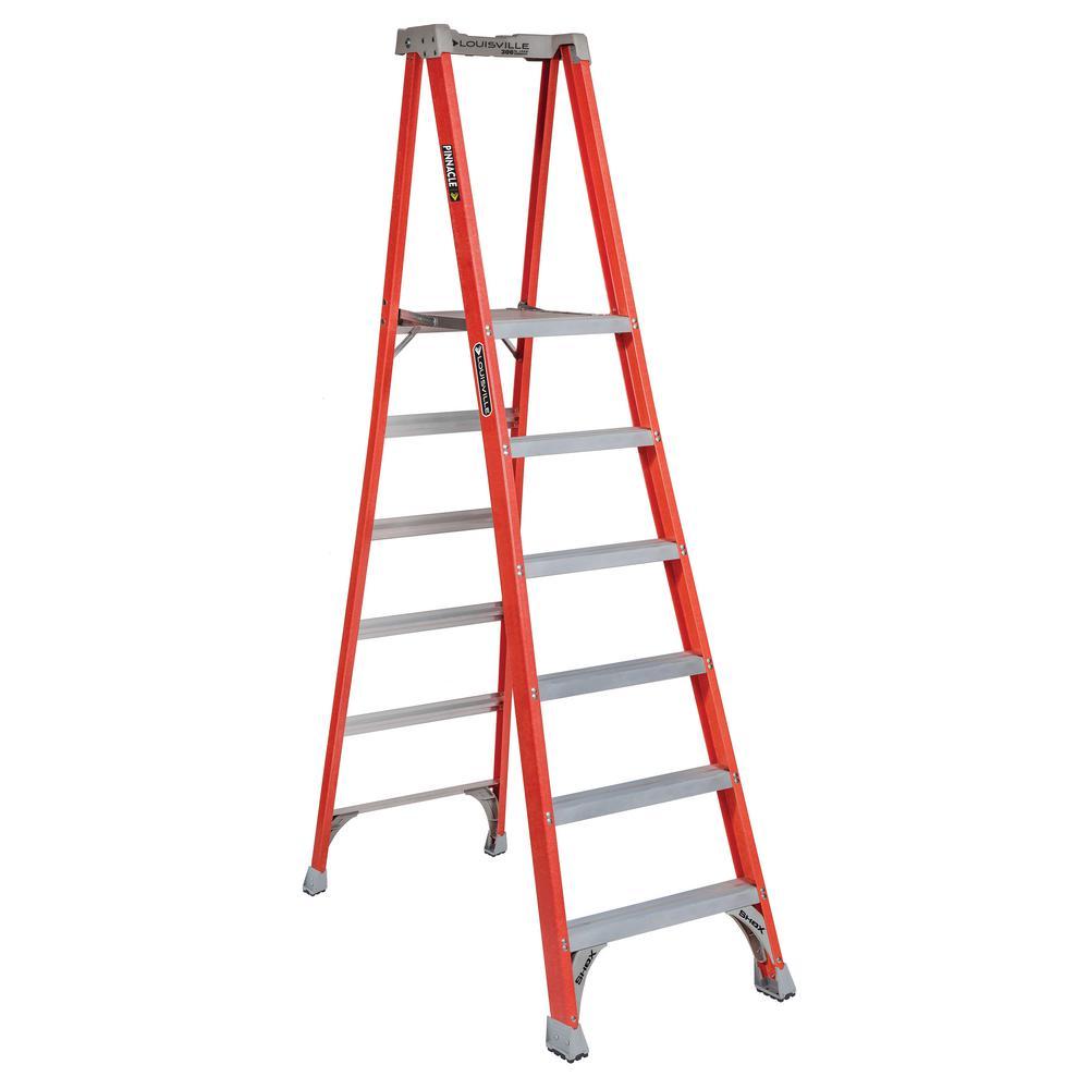 6 ft. Fiberglass Pinnacle Platform Ladder with 300 lbs. Load Capacity Type IA Duty Rating