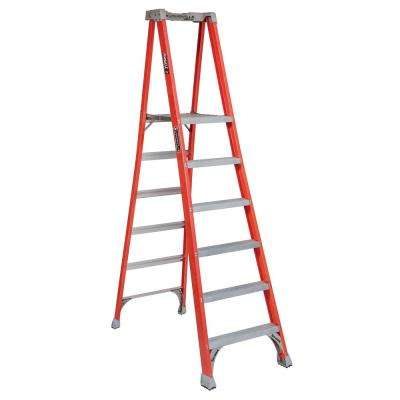 6 ft. Fiberglass Pinnacle Platform Ladder with 300 lbs. Load Capacity Type IA Duty Rating