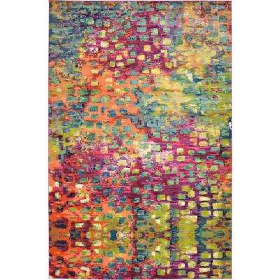 Abstract Multicolor Barcelona 10 ft. 6 in. x 16 ft. 5 in. Area Rug