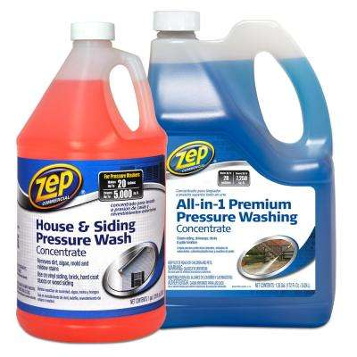 All in 1 Premium Pressure Wash 172 oz. with 128 oz. House and Siding Pressure Wash Concentrate