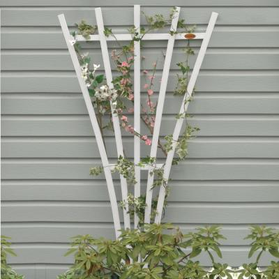 White Recycled Plastic Hartford Fan Trellis