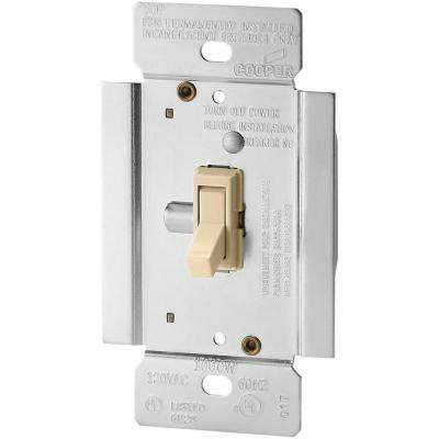 Trace 1000-Watt Dimmer with Combination Single-Pole 3-Way Unit, Ivory