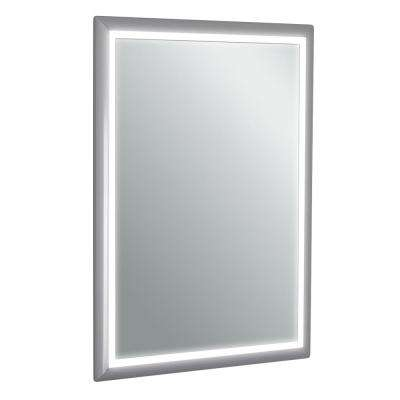 Sedona 20 in. W x 28 in. H LED Wall Mounted Vanity Bathroom LED Mirror in Aluminum
