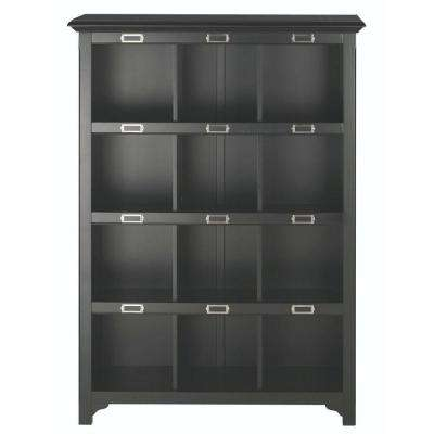 William 41.25 in. W x 58.75 in. H Black 12-Cube Organizer