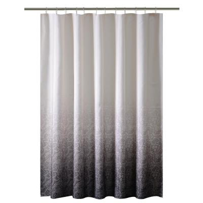 Printed Polyester Black Shower Curtain