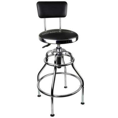 Adjustable 19 in. W Hydraulic Shop Stool
