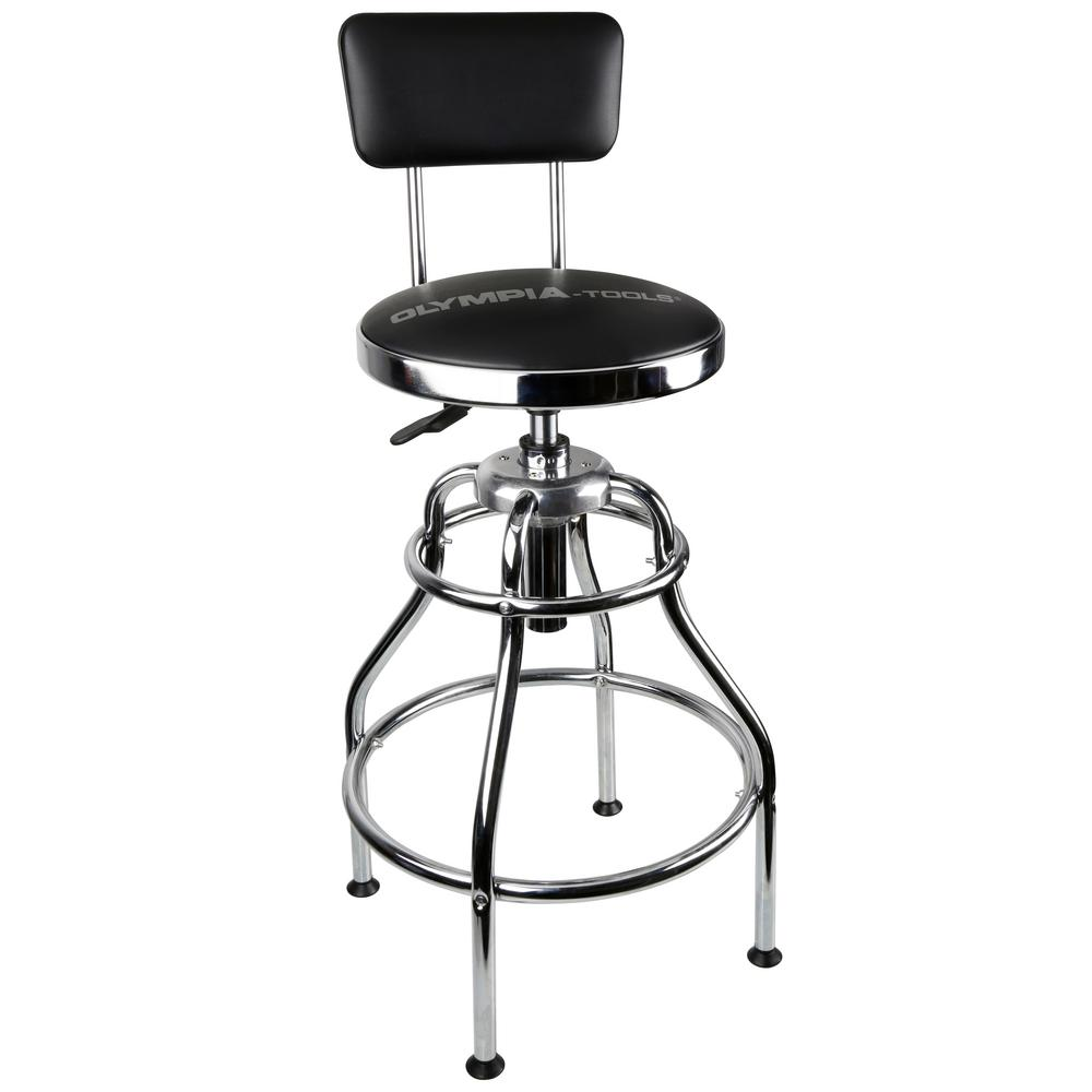 OLYMPIA OLYMPIA 300 lb. Capacity 39 in. Adjustable Height Hydraulic Garage/Shop Stool with 360-Degree Swivel