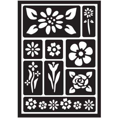 Floral Peel and Stick Painting Stencils