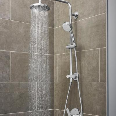 Vitalio 5-spray 7 in. Dual Shower Head and Handheld Shower Head in Chrome