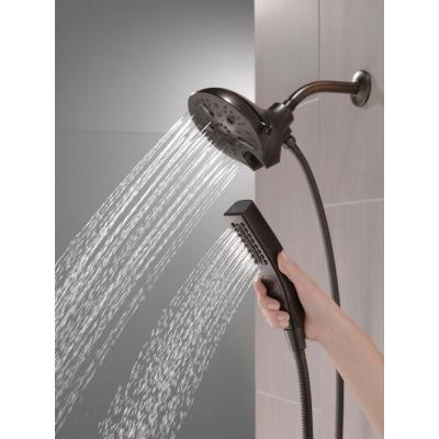 In2ition 5-Spray 6.06 in. Wall Mount Dual Shower Heads with H2Okinetic Technology in Venetian Bronze