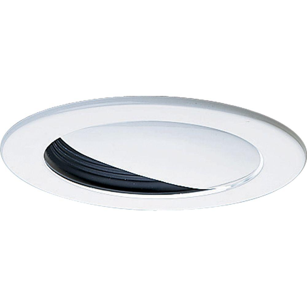 Progress Lighting 4 in. 12-Volt Black Recessed Wall Washer Trim Wall Washer trim for use with Progress 12-volt 4 in. recessed lighting housings.