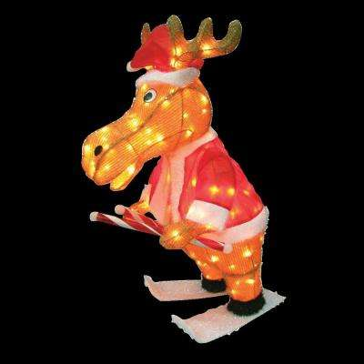 36.5 in. 3D Snowy Soft Skating Moose