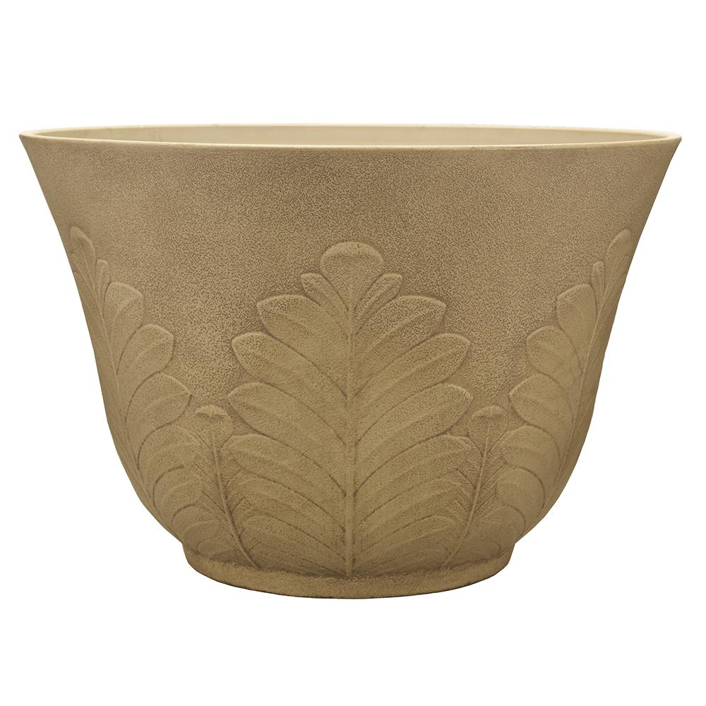 Southern Patio Acanthus 16 in. Dia Resin Planter